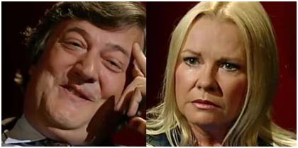 Stephen Fry and Pamela Connolly